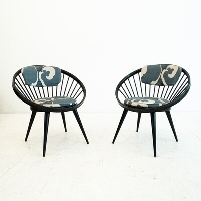 Pair of Circle chairs by Yngve Ekstrom, 1960s