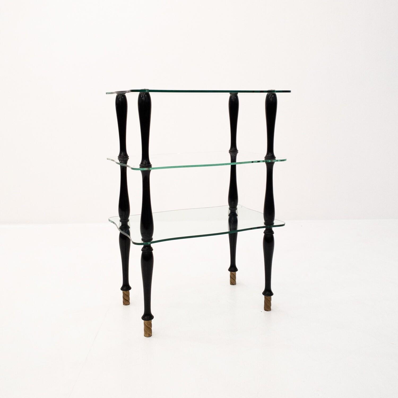 Tavolino in vetro in stile Art Deco'