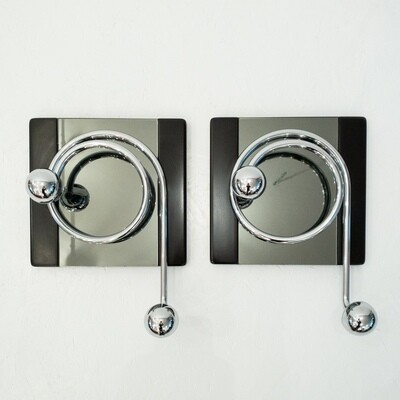 Pair of coat hangers designed by Willy Rizzo, 1970s