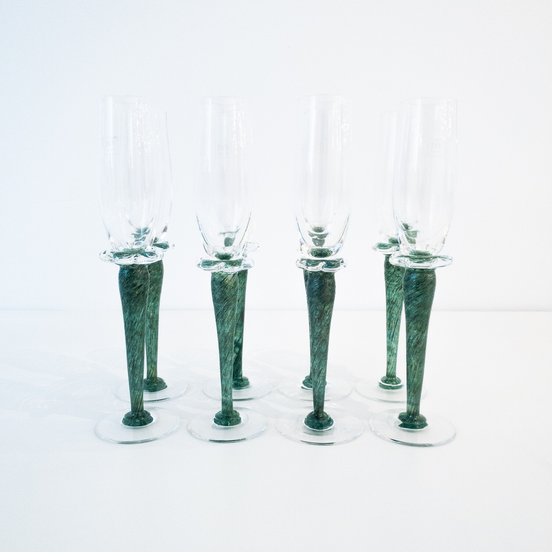 Set di 8 Flute in vetro IVV