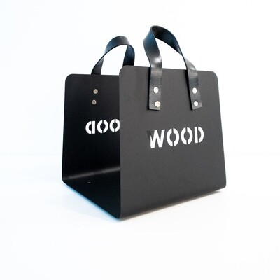 Firewood holder in black steel