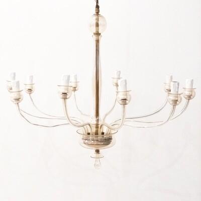 Suspension lamp in Murano glass