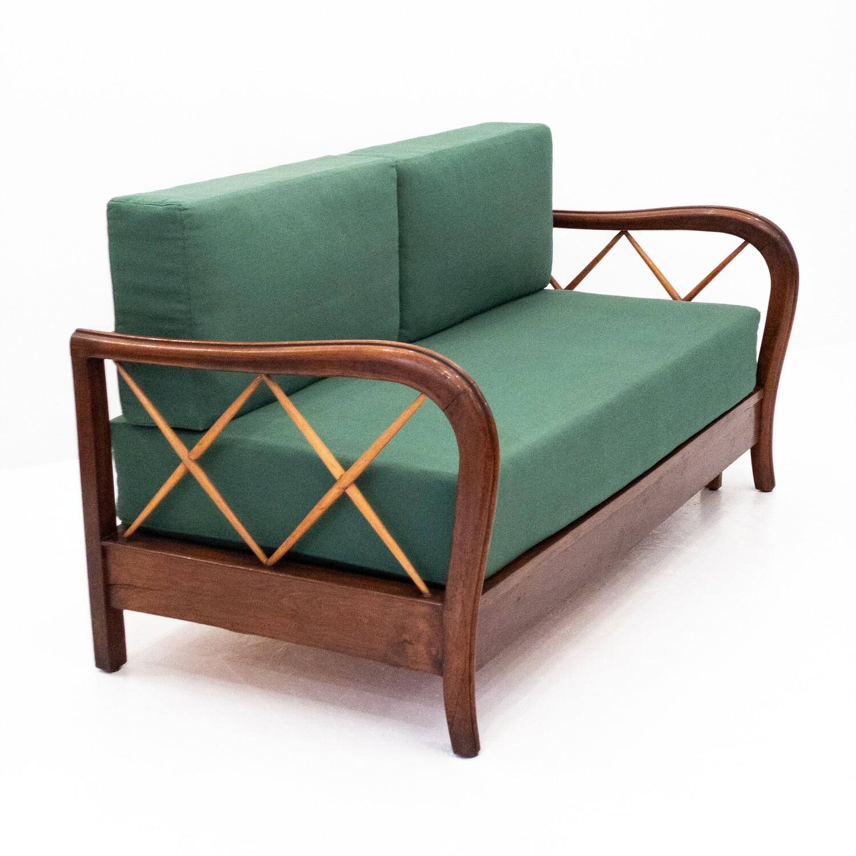 Paolo Buffa extendable sofa, 1950s