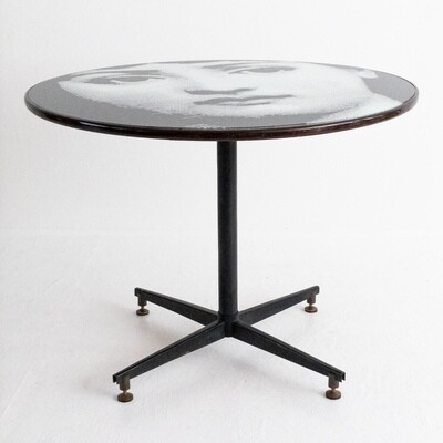 Hand painted round dining table