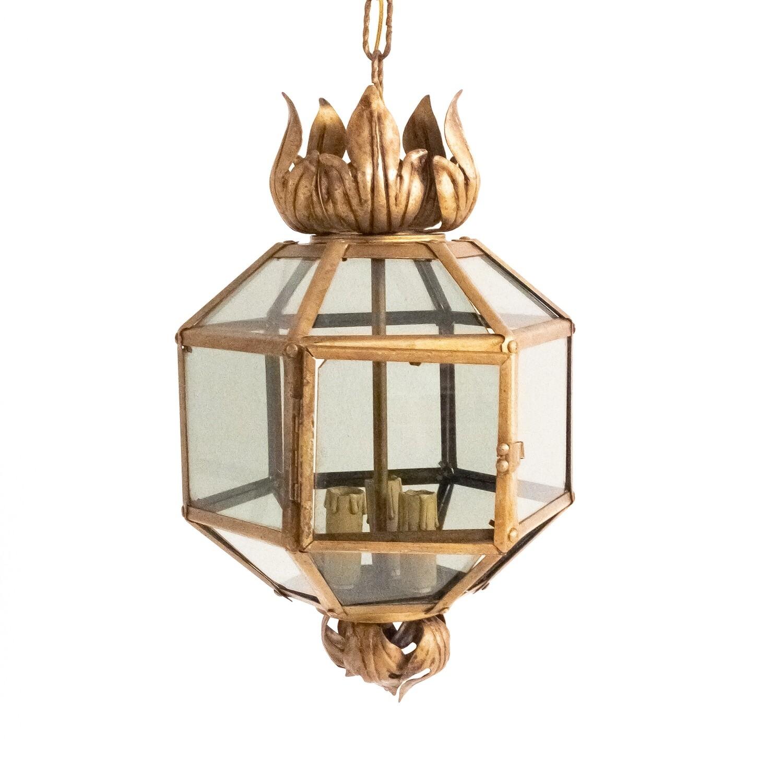 Suspended brass lantern, Italy 1940s