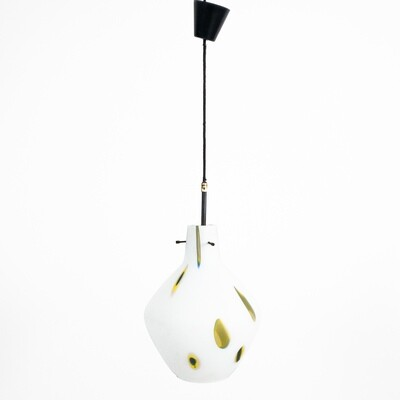 Suspension lamp attributable to Dino Martens for Aureliano Toso 1950