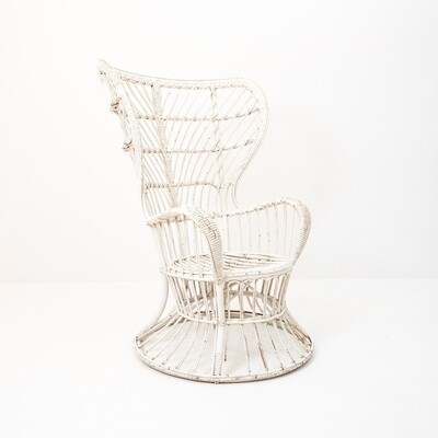 Rattan and bamboo armchair by Gio Ponti and Lio Carminati for Bonacina, Italy 1950s