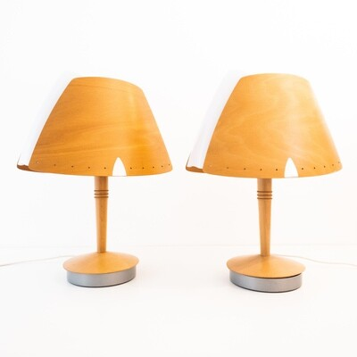 Set of 2 table lamps Mod. Shorts by Lucid Lampes, France 1970s