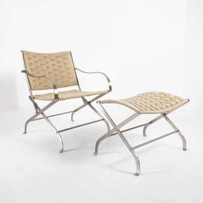 Carlotta armchair and pouf by Flexform