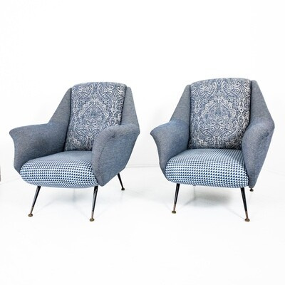 Set of 2 armchairs in the style of Marco Zanuso 1950s