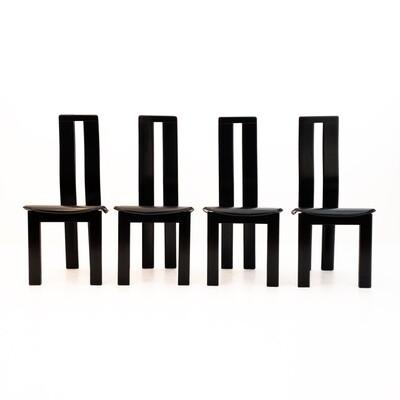 Set of 6 Piero Costantini chairs for Ello, 1970