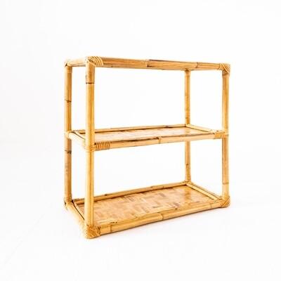 Tavolino rettangolare in bambù, Italia anni '70