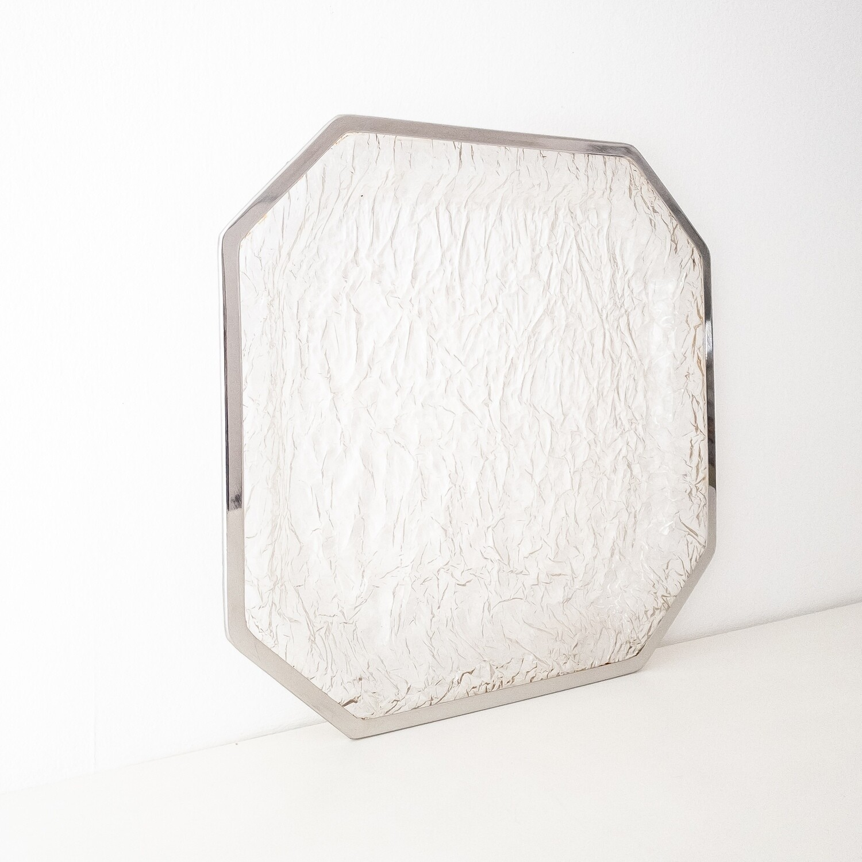 Vassoio centrotavola in lucite effetto ghiaccio, Anni '70
