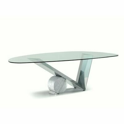 Valentinox glass table by Emanuele Zenere for Cattelan, Italy 2005