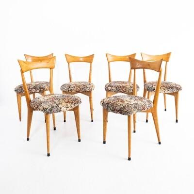 Set di 6 sedie nello stile di Ico parisi