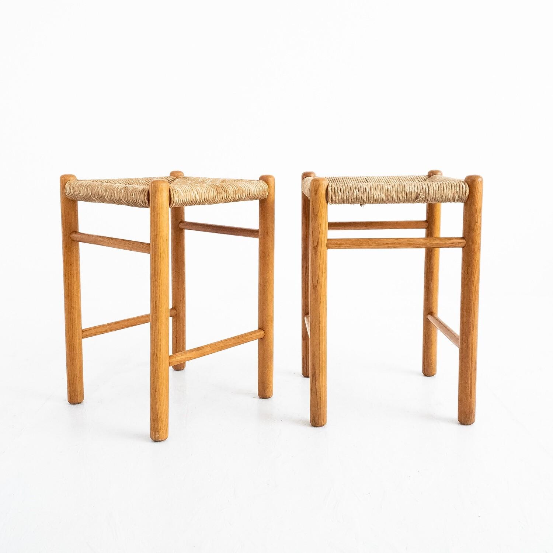 Set di 2 sgabelli nello stile di Charlotte Perriand, anni '60