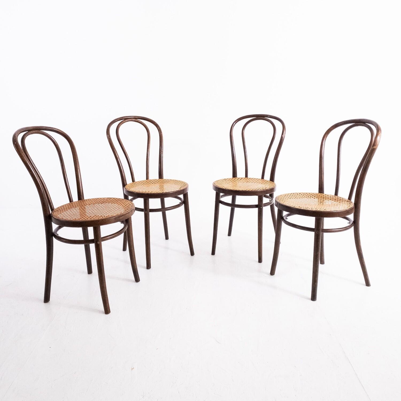 Set of 4 Thonet chairs n. 18 by Zpm Radomsko