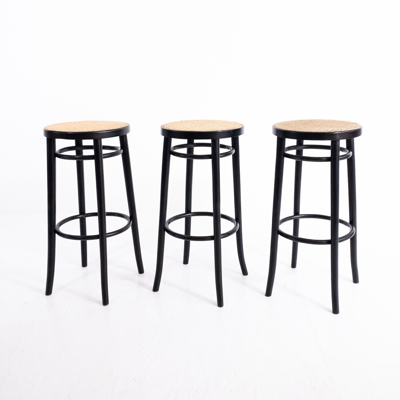 Set di 3 sgabelli da bar in stile Thonet