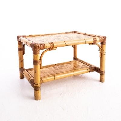 Rectangular bamboo coffee table