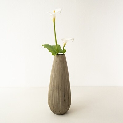 Vase in sand scratched glass