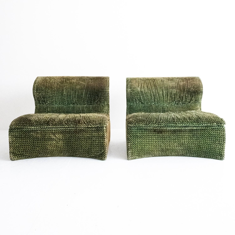 Set of 2 Vela Bassa modular armchairs by Giovanniofferedi for Saporiti Italia, 1970s