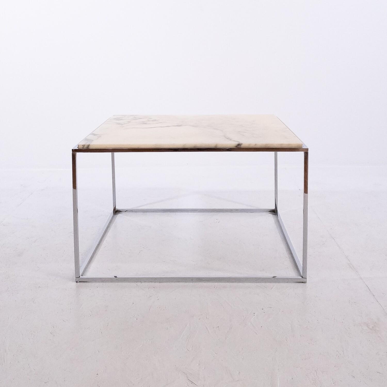 Tavolino da caffè in marmo e acciaio