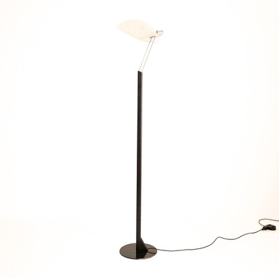 Floor lamp with leaf shade