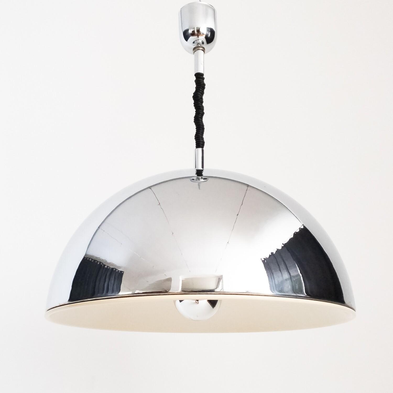 Chrome dome pendant lamp