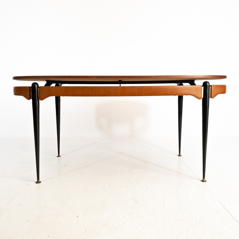 Oval table Silvio Cavatorta, Italy 1950s