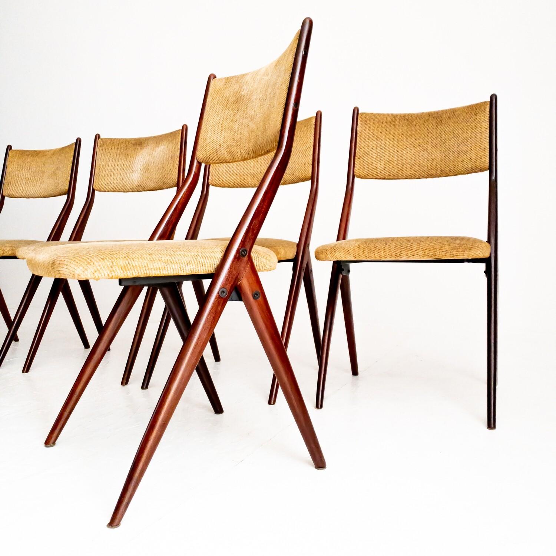 Set di 6 sedie Tamigi di Gaetano & Alessandro Besana, Italia anni '50