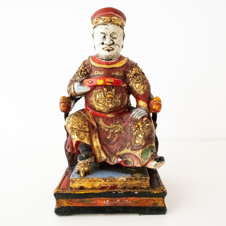 Antica statua scolpita in legno, Asia anni '40