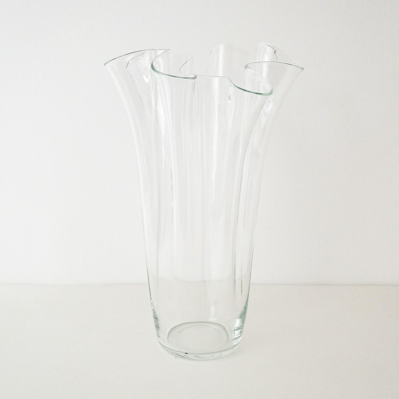 Vaso in vetro a fazzoletto