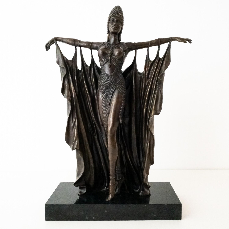 Scultura in bronzo Art Deco' Ballerina Chiparus