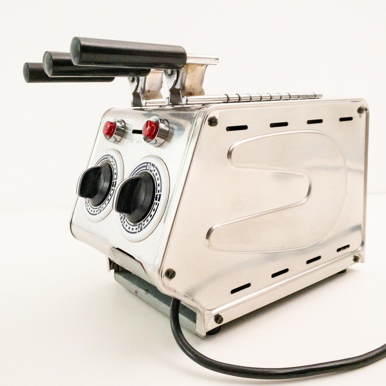 Vintage steel toaster by Ghisalberti