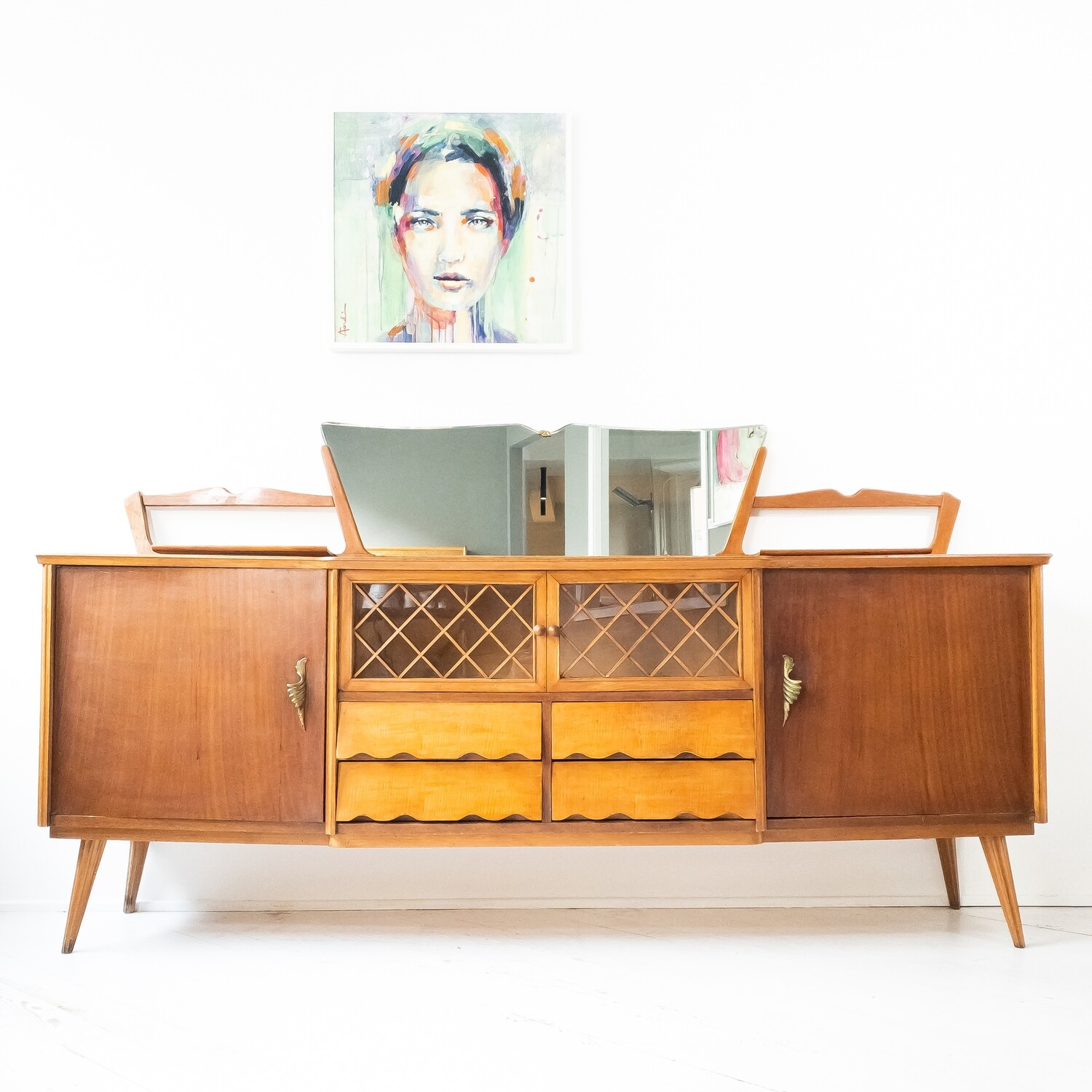 Sideboard with mirror, 1960s