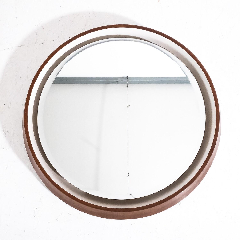 Specchio tondo retroilluminato, anni '70
