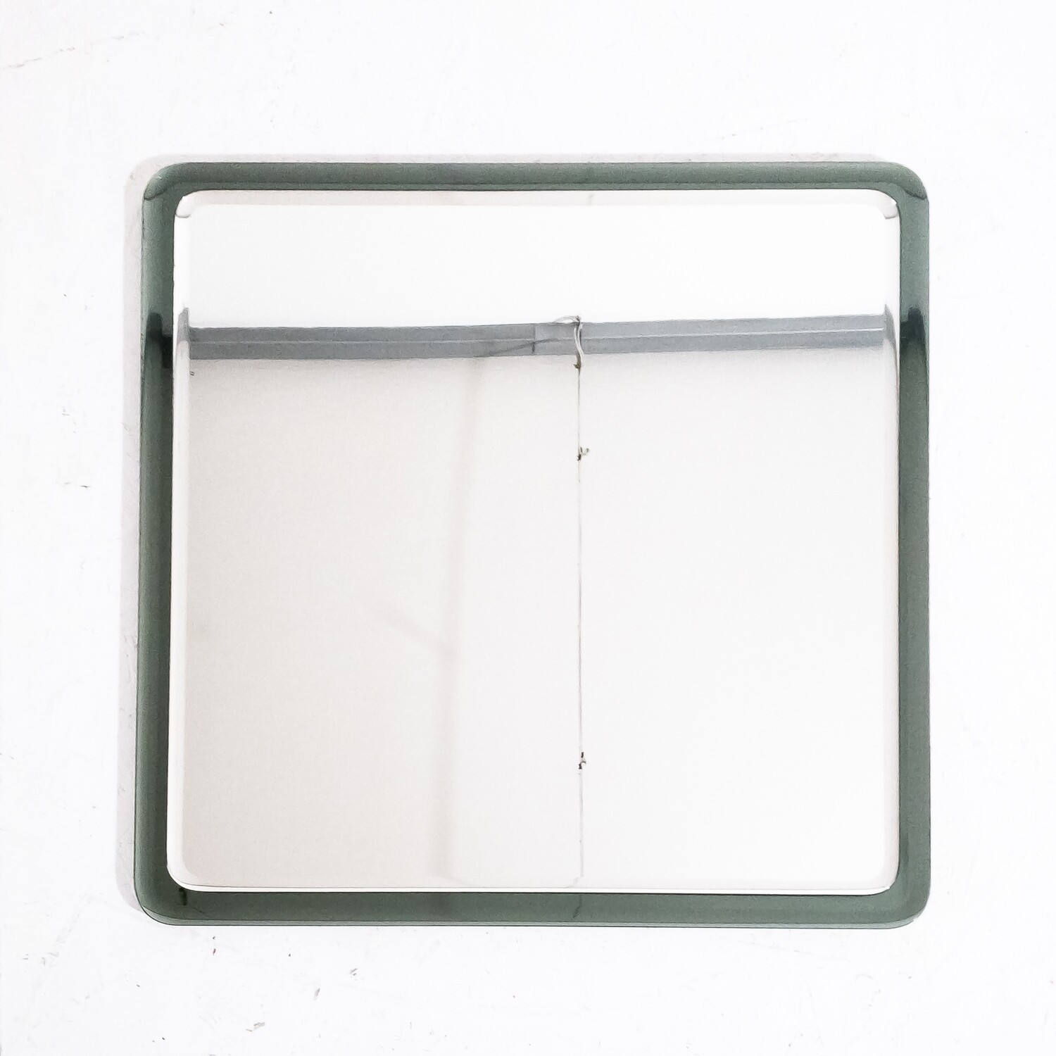 Square mirror in two-tone glass, Italy 1960s