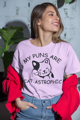 My Puns Are Cat-Astrophic Ringspun Cotton Tee