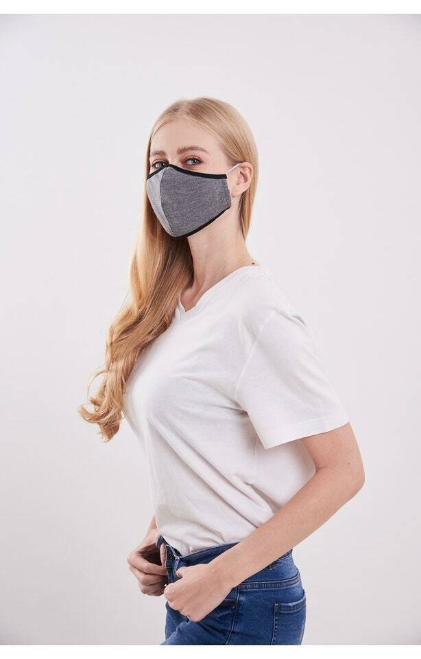 2-Layer Washable Knit Face-Cover with Filter Pocket