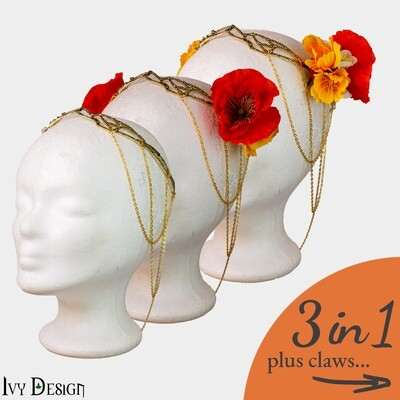 'Cairen' Headpiece and Claw-Set // 3 in 1 🌹⁠