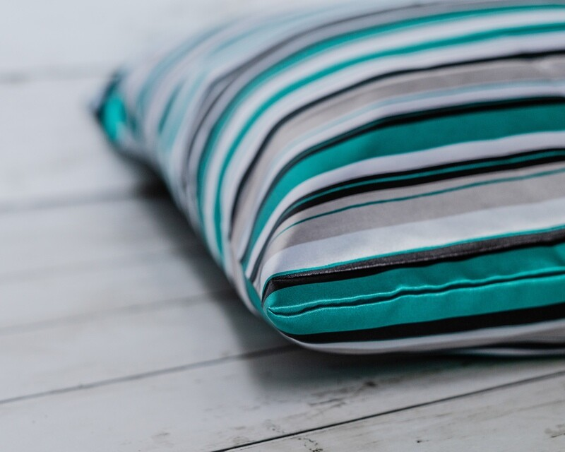 Satin Pillowcase- Cool Stripes