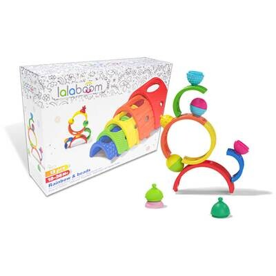 Lalaboom - 13 Piece Rainbow Arches and Beads Set