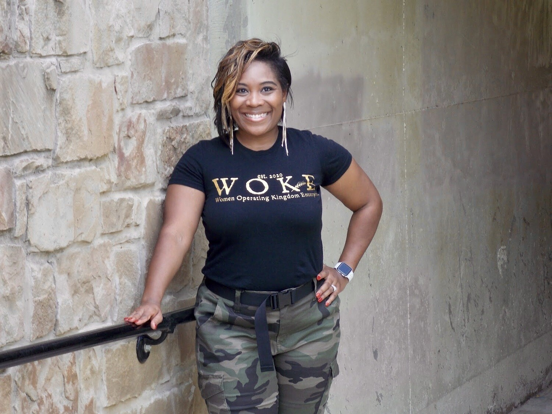WOKE - Women Operating Kingdom Enterprises Fitted Tee