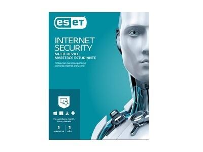 Antivirus ESET Internet Security Maestro / Estudiante - 1 PC