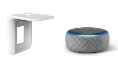 Combo  Amazon Alexa Echo Dot 3er Gn  + Repisa de Pared