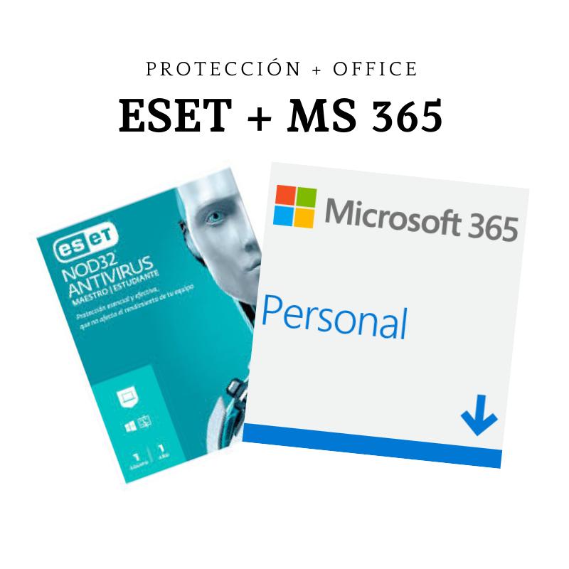 Combo - Antivirus Eset Nod 32 Maestro/Estudiante + Office Personal