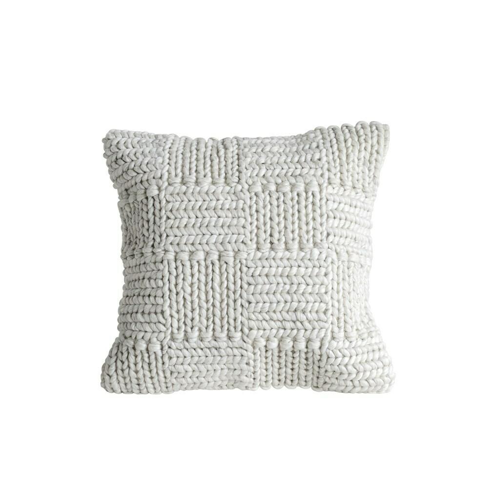 Ashley Wool Knit Pillow, 20x20