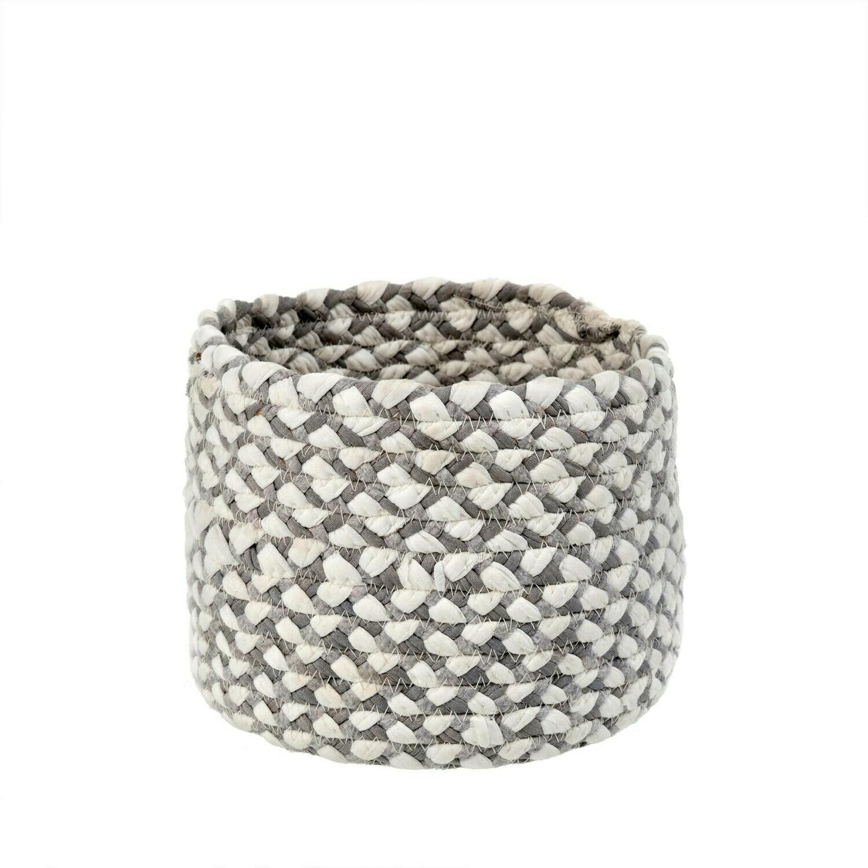 Chindi Weave Pot Grey