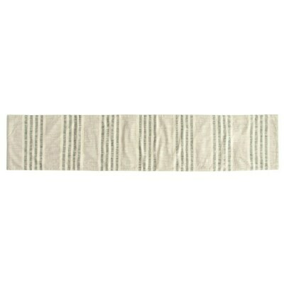 Cotton Striped Runner, Natural