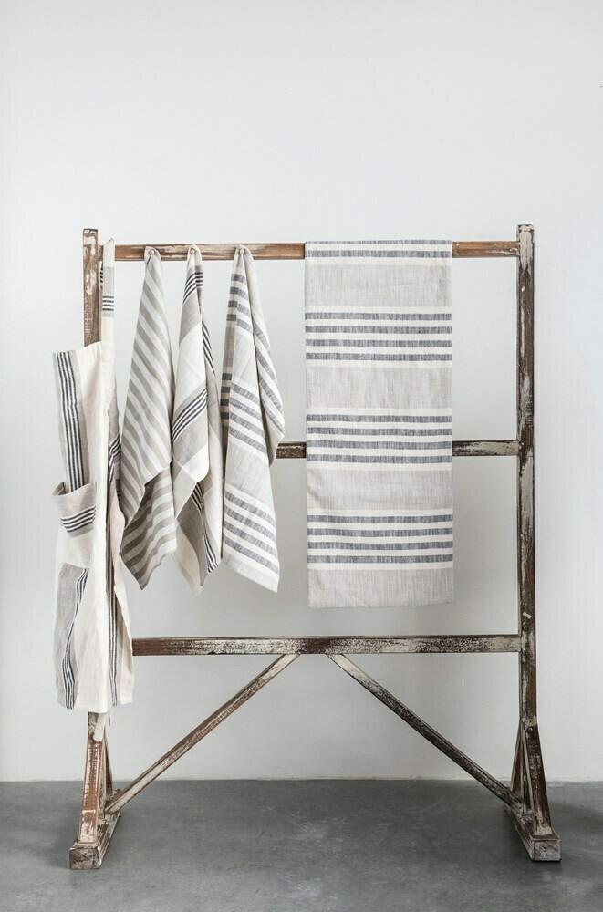 Cotton Striped Tea Towel Set Of 3